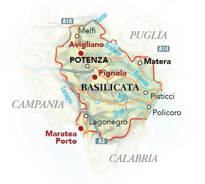 Cartina Basilicata.Cartina Ristoranti Del Buon Ricordo