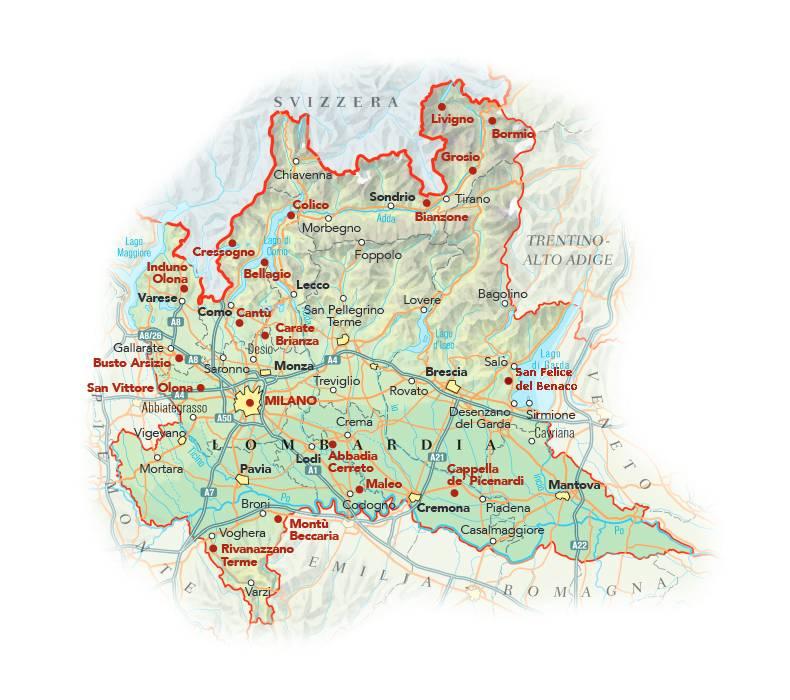 Cartina Lombardia Pavia.Cartina