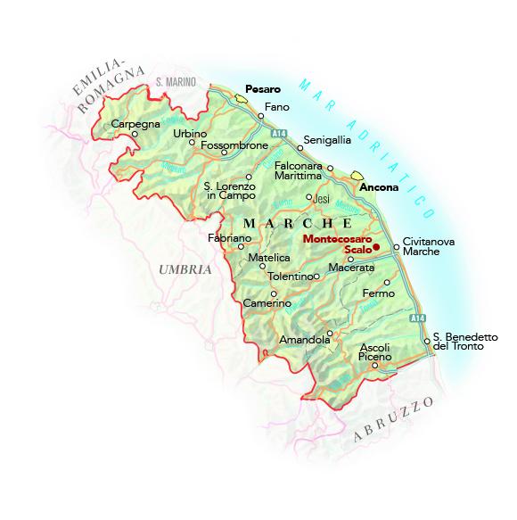 Immagini Cartina Marche.Cartina