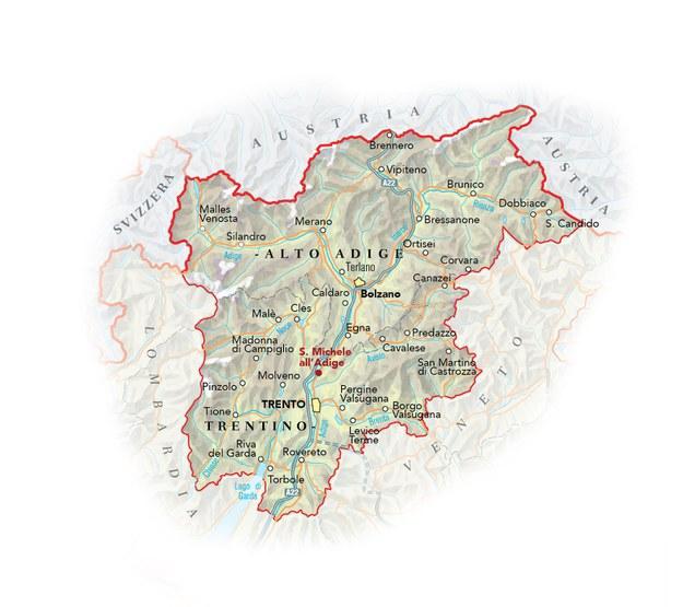 Cartina Geografica Trento.Trentino Alto Adige Ristoranti Del Buon Ricordo