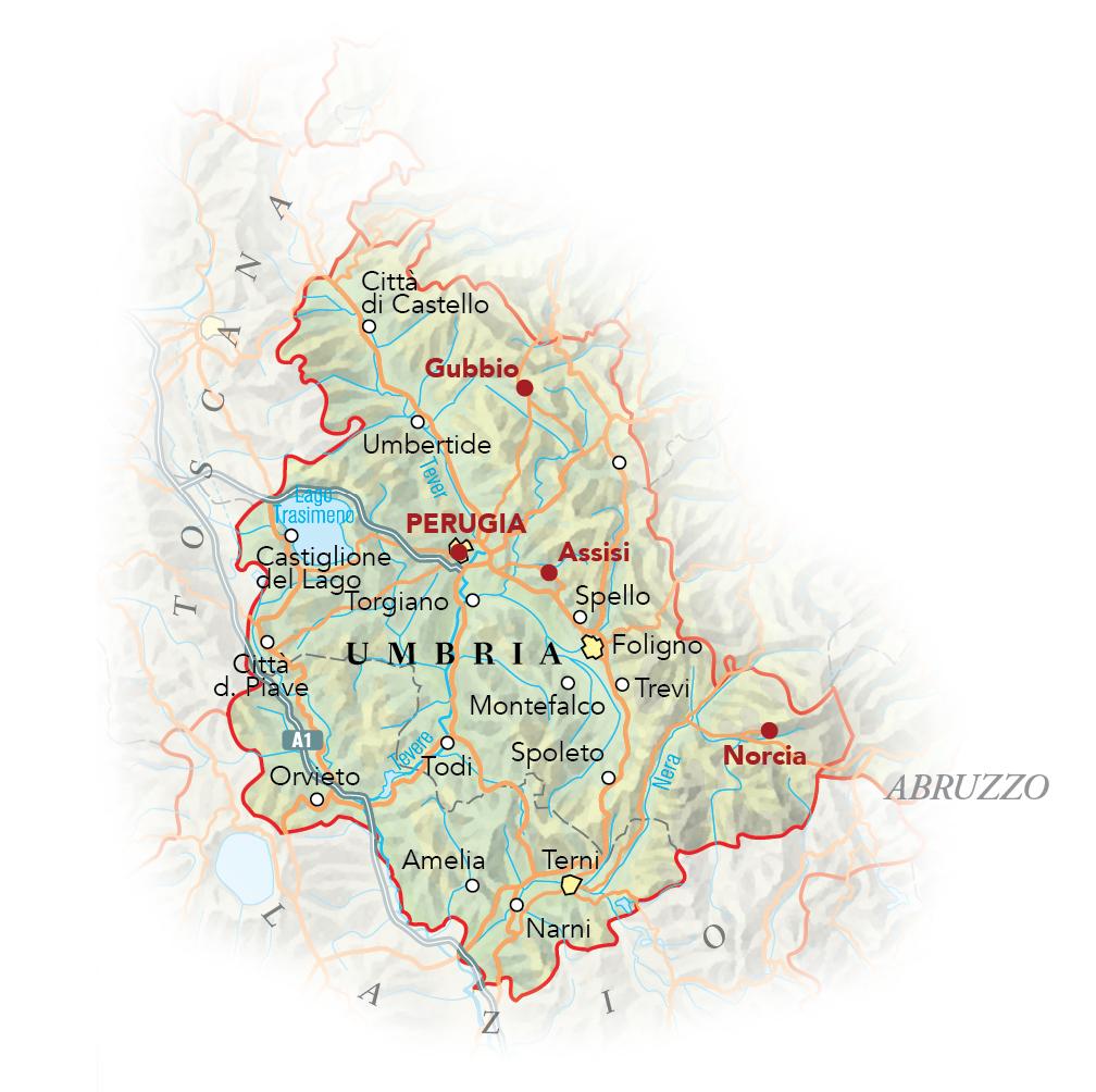Cartina Abruzzo Umbria.Cartina